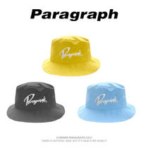 【Paragraph】21ss★ Embroidery Big Logo Bucket Hat No.79