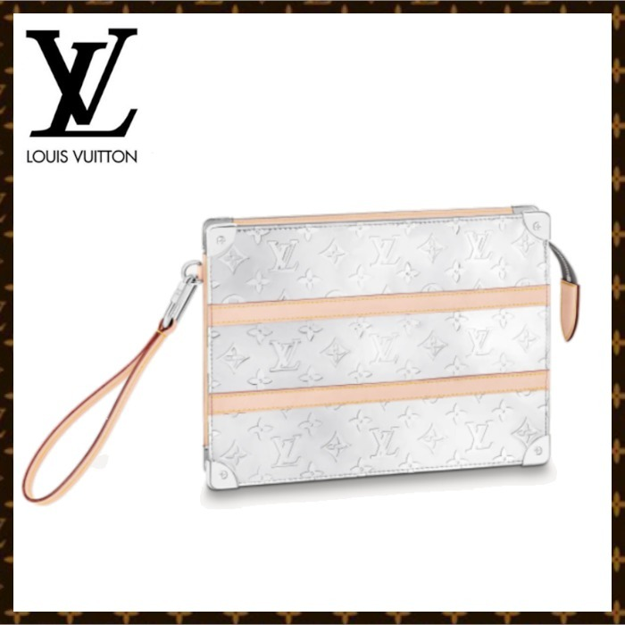 21AW【新作】ルイヴィトン POCHETTE TRUNK ポーチ バッグ (Louis Vuitton/クラッチバッグ) M80807