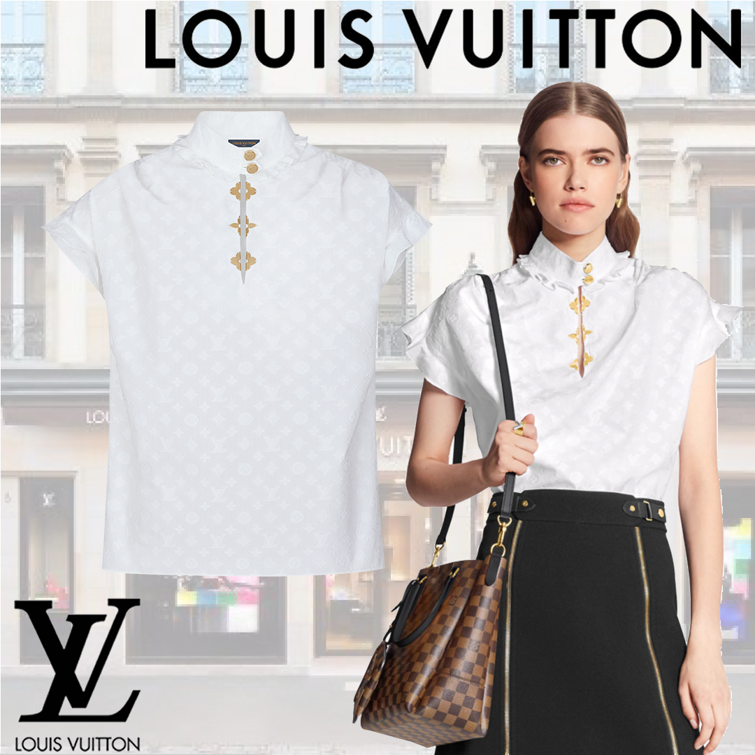 LOUIS VUITTON - FRILL BLOUSE ブラウス ホワイト 【夏服】 (Louis Vuitton/ブラウス・シャツ) 1A5M06