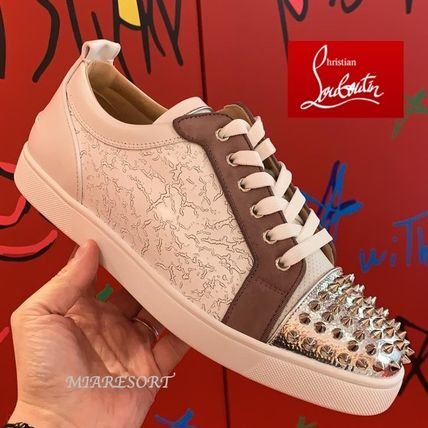 21AW 新作 ★ ルブタン Louis Junior Spikes Gong ★ スニーカー