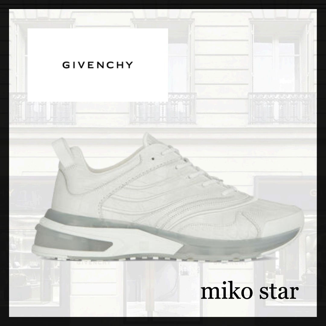 GIVENCHY★人気!クロコダイル型押しレザー GIV 1 スニーカー (GIVENCHY/スニーカー)  BH004WH0WK-100