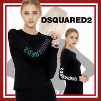 D SQUARED2(ディースクエアード) Tシャツ・カットソー 【D SQUARED2】Women's Side Logo Air Slim Long Sleeve T-shirt