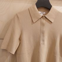 """""""COS"""" KNITTED POLO TOP BEIGE"""