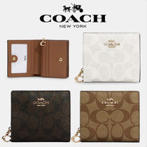 【Coach】Snap Wallet In Signature Canvas