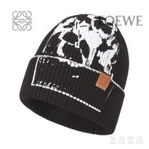 LOEWE★ロエベ Pansies beanie in cotton and calfskin
