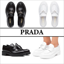 Prada☆Brushed leather loafers☆レザーローファー☆