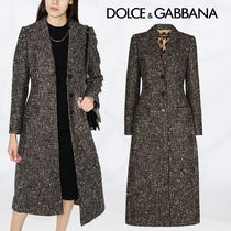 【Dolce&Gabbana】HOUNDSTOOTH LONG COAT IN WOOL