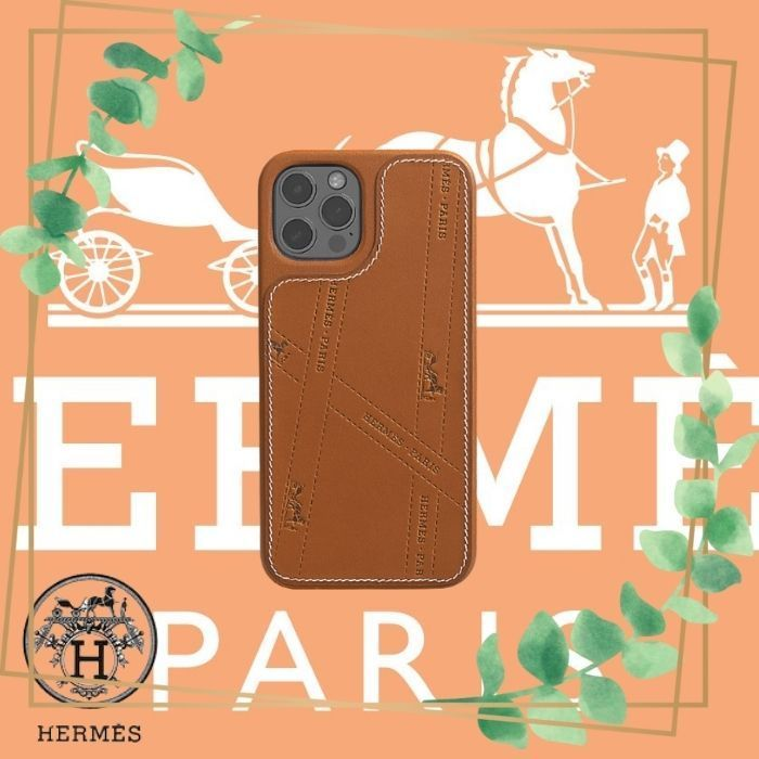 【】iPhone case 12 and 12 pro (HERMES/iPhone・スマホケース) H0007441A34