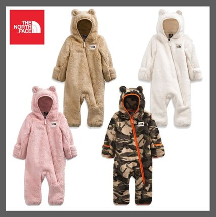 *THE NORTH FACE*もこもこ&耳付き Infant Campshire One-Piece