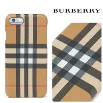 Burberry Checked coated レザー iPhone8 ケース