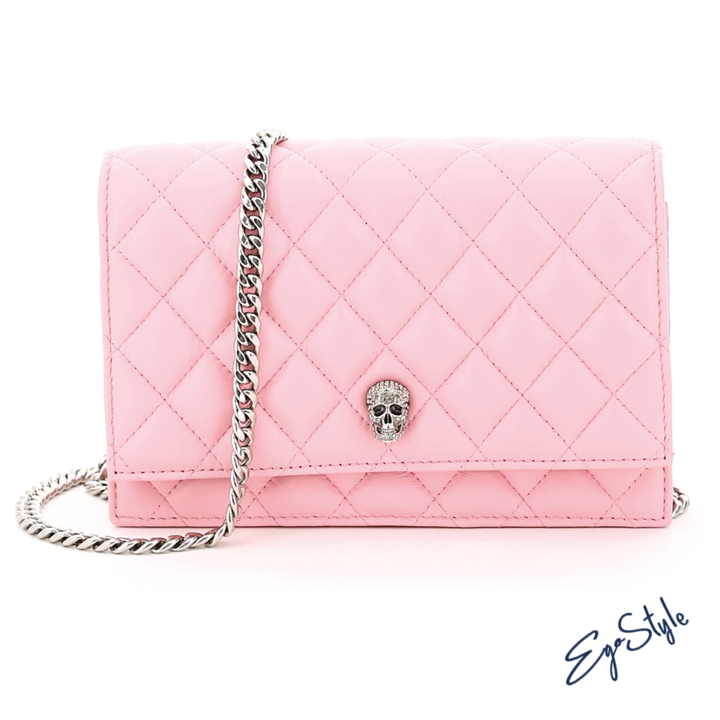 CROSSBODY BAG WITH PAVE SKULL (alexander mcqueen/ショルダーバッグ・ポシェット) 647288 14A55 5905  64728814A555905