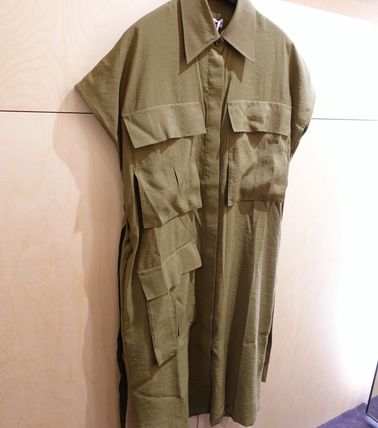 """""""COS"""" BELTED UTILITY DRESS KHAKIGREEN"""