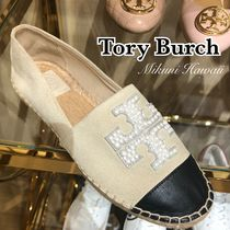 Outlet買付【Tory Burch】パール★Pearl Logo Flat Espadrille