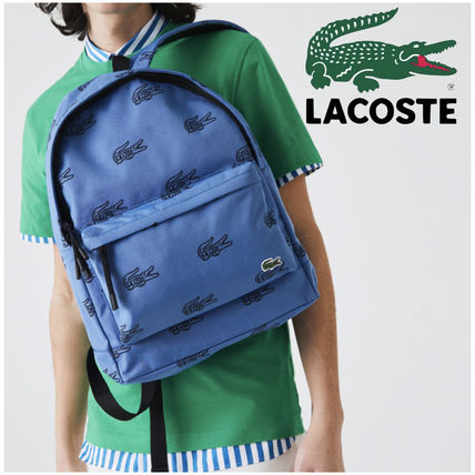 SALE【LACOSTE ラコステ】 ロゴ柄 キャンバス バックパック