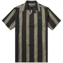 ★FRED PERRY AUTHENTIC STRIPE  COLLAR SHIRT  シャツ 関税込★