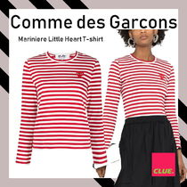 PLAY COMME des GARCONS(プレイコムデギャルソン) Tシャツ・カットソー COMME DES GARCONS PLAY★ボーダー ハート刺繍 長袖Tシャツ