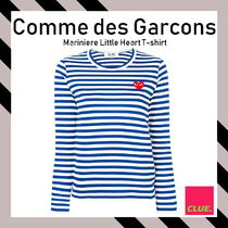 PLAY COMME des GARCONS(プレイコムデギャルソン) Tシャツ・カットソー COMME DES GARCONS PLAY★ボーダー ハート刺繍 長袖 Tシャツ