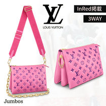 【LOUIS VUITTON】InRed掲載*クッサン PM クラッチバッグ 3WAY