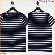 【Tommy Jeans】ロゴボーダー◆slim fit ロゴTシャツ