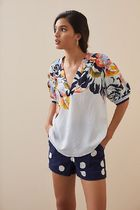 Anthropologie(アンソロポロジー) ブラウス・シャツ Anthropologie ★ Maeve Floral V-Neck Blouse