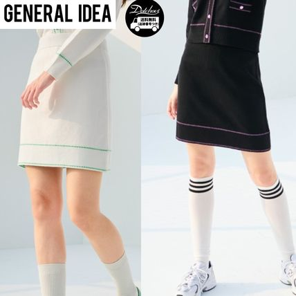 GENERAL IDEA lucky knit tweed skirt AB717