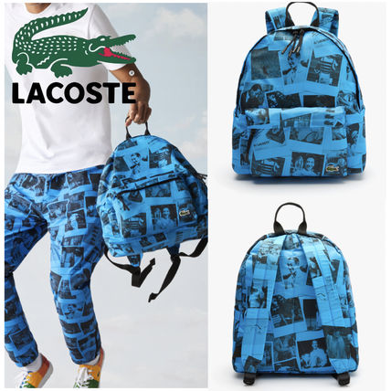 SALE【LACOSTE ラコステ】 キャンバス プリント バックパック