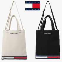 Tommy JEANS*キャンバス フラグブロック トートバッグ