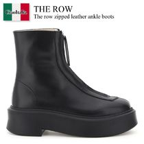 The row zipped leather ankle boots
