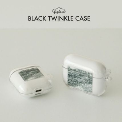 Fogbow★black twinkle AirPods ケース /クリアケース