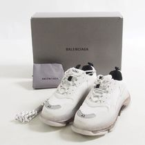 Balenciaga::faux leather and mesh trainers:28.5cm[RESALE]