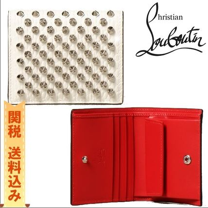 【CHRISTIAN LOUBOUTIN】PALATIN SPIKES wallet with studs
