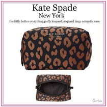 kate spade new york(ケイトスペード) メイクポーチ 【 国内発送】Kate Spade★leopard jacquard cosmetic case
