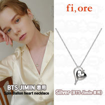 ★fiore★BTS JIMIN 着用 Spin balloon heart necklace (Silver)