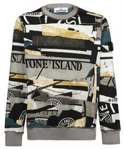 【21AW】BRUSHED COTTON MIXED MEDIA ALL OVER PRINT Sweatshirt