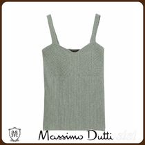 MassimoDutti♪STRAPPY RIBBED KNIT TOP