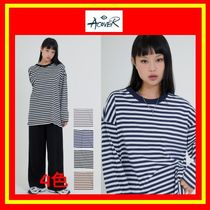 [ACOVER] OVERFIT STRIPE LONG T-SHIRT/4色/着用/追跡付