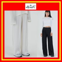 [ACOVER] WIDE PLEATS BAND PANTS/2色/着用/追跡付