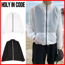 HOLY IN CODE ★Light Weight Summer Thin Zip-up