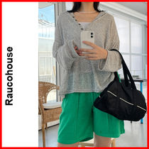 Raucohouse(ラウコハウス)★ Mix Color Cropped Button Hood