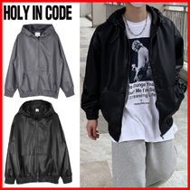 HOLY IN CODE(ホーリーインコード)★ Leather Hood Jacket 2色
