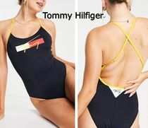 Tommy Hilfiger★ イエロー ロゴ cheeky ハイレッグ 水着