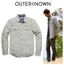 Outer known(アウターノウン) シャツ 【Outer known】大人気!BLANKET シャツ−Heather Grey