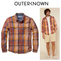Outer known(アウターノウン) シャツ 【Outer known】大人気!BLANKET シャツ−Coral Mav Plaid