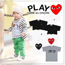 COMME des GARCONS(コムデギャルソン) キッズ用トップス 【COMME des GARCONS】PLAY キッズ ハートロゴ カットソー