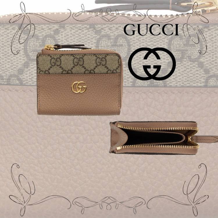 NEW!★グッチ★ピンク & ベージュ ミニ GG Marmont (GUCCI/財布・小物その他) 72100572