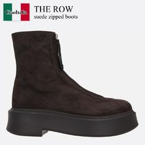 The Row suede zipped boots