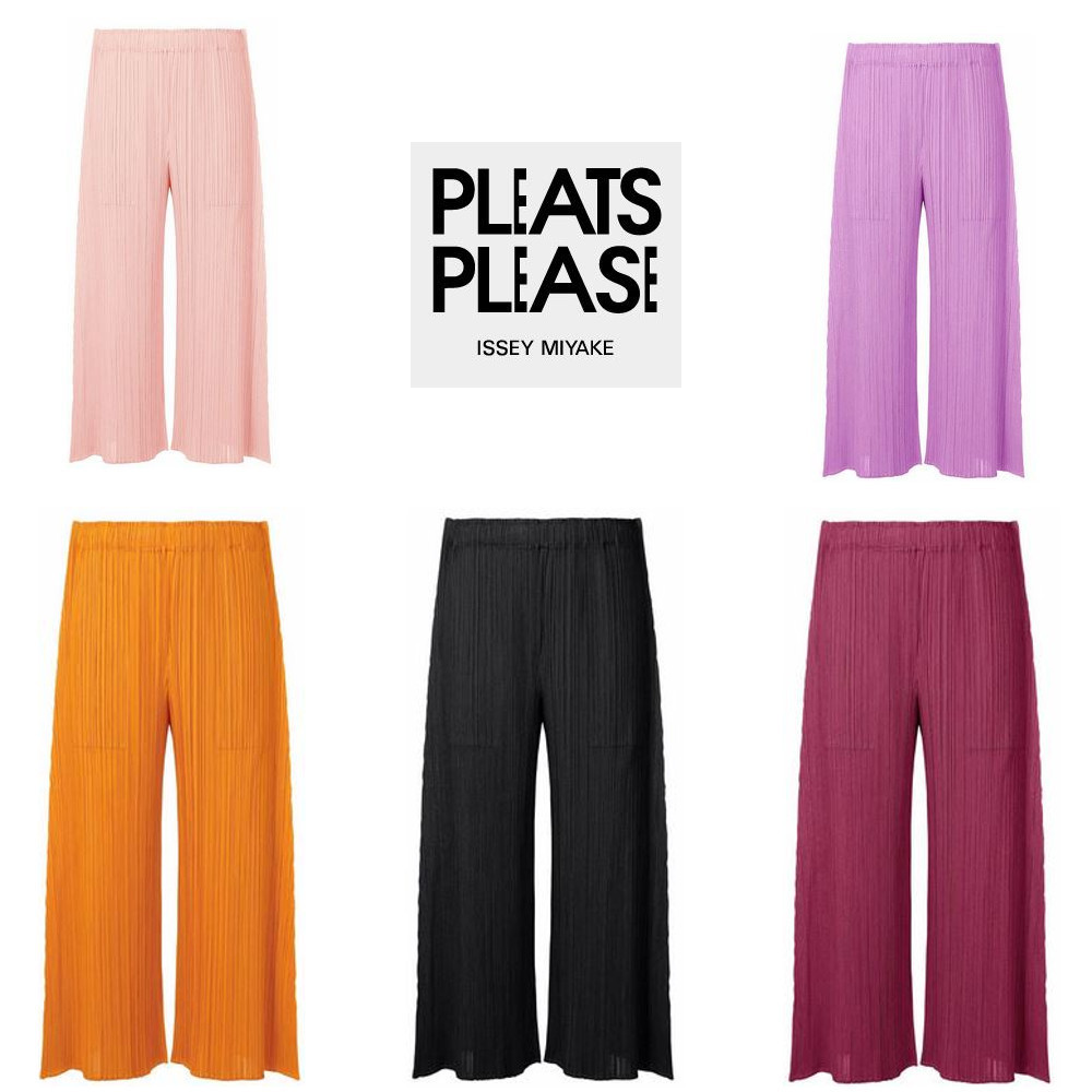 PLEATS PLEASE ISSEY MIYAKE ★ MONTHLY COLORS AUGUST wide leg (ISSEY MIYAKE/パンツ) 72136029