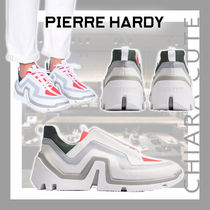【21SS NEW】Pierre Hardy_men /バイブスニーカー/ White×Coral