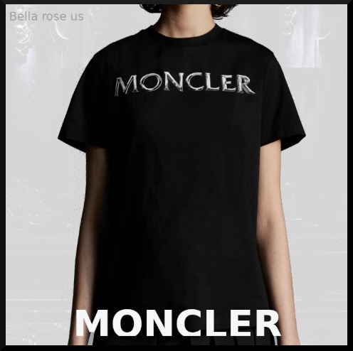 MONCLER *T-shirt with shiny logo* (MONCLER/Tシャツ・カットソー) G20938C00015829ET