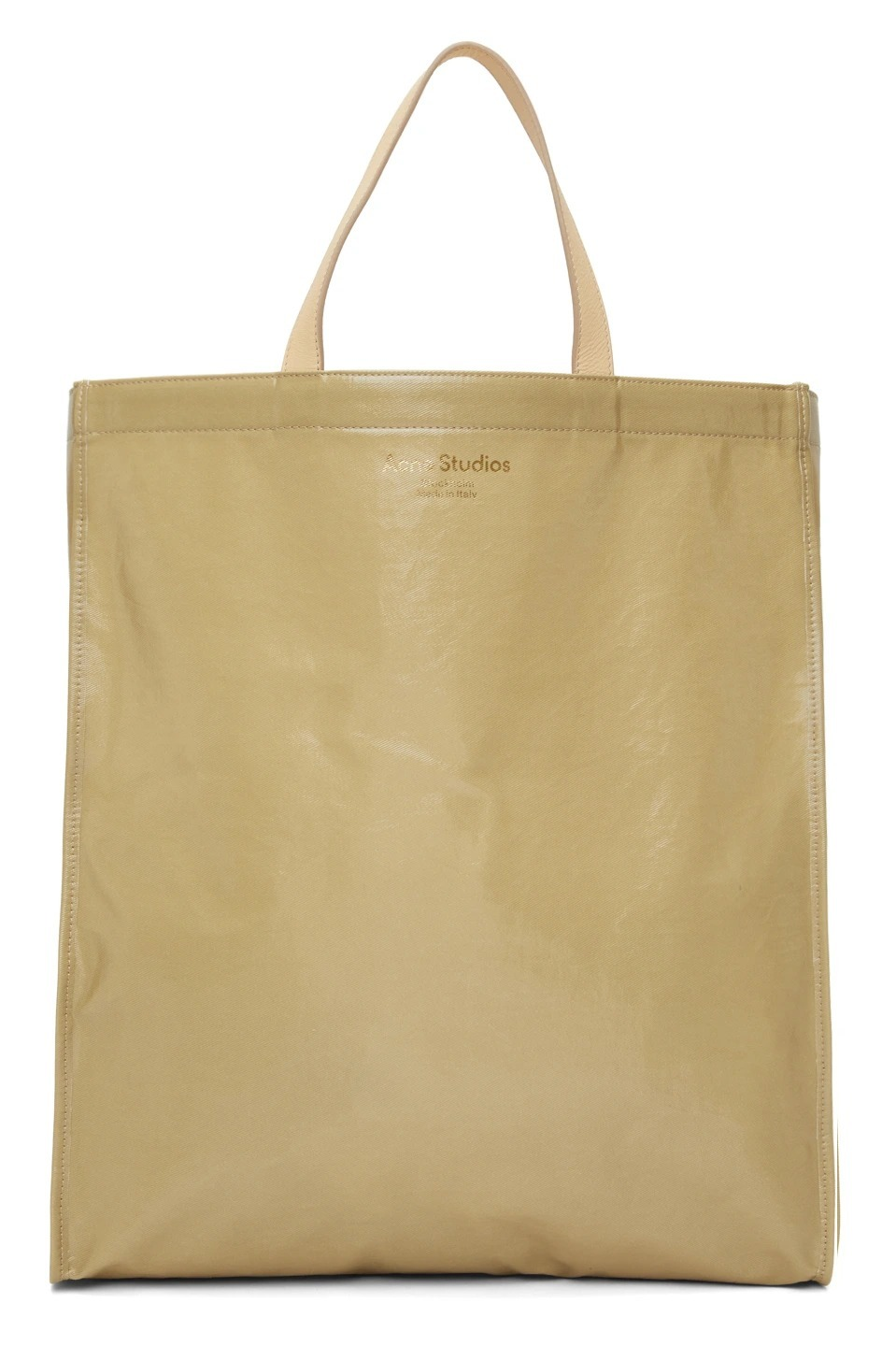 Acne Oilcloth shiny tote bag beige オイルキャンバストート (Acne/トートバッグ) 72153897